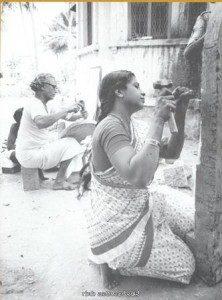 Kanaka with guru Vadiraj