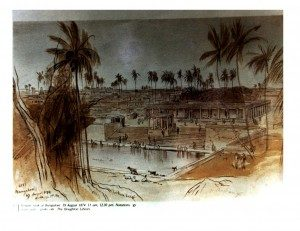 An artist view of a lake in Bengaluru